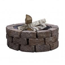 Concretika Чаша для костра iron pit на основании из состаренного бетона P60х1 уровень кладки