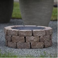 Concretika Чаша для костра iron pit на основании из состаренного бетона P80х1 уровень кладки