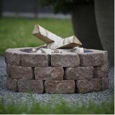 Concretika Чаша для костра iron pit на основании из состаренного бетона P100х1 уровень кладки