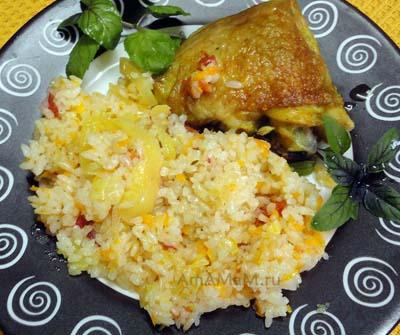 Куриные бедра рисом рецепт с фото